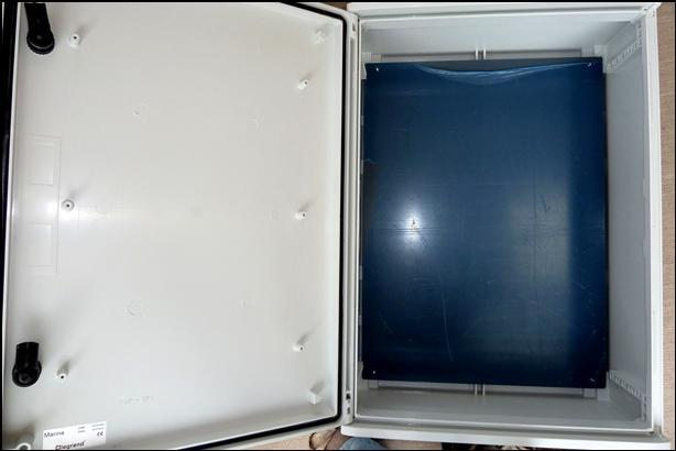 Picture 5 – Enclosure with Backplate cut to size and fitted