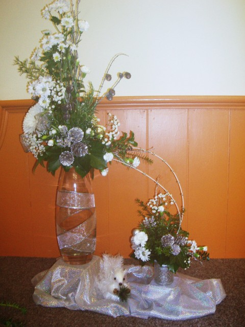Tableau of Christmas Flower Arrangements part three